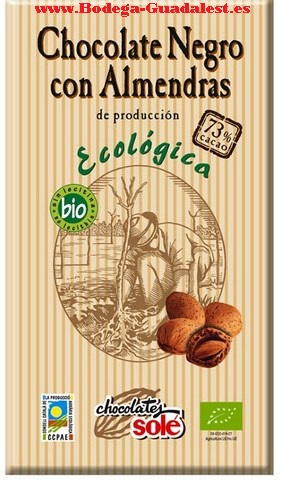 Black ecological chocolate with almonds